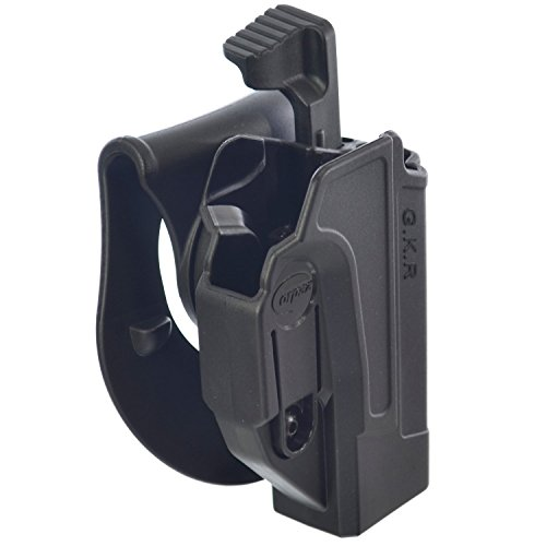 ORPAZ Defense Taktisch verstellbar drehbar drehung Paddle/Gürtel Pistole Holster Active Retention Mit Thumb Release Sicherheit für Glock 17/19/22/23/25/26/27/31/32/34/35