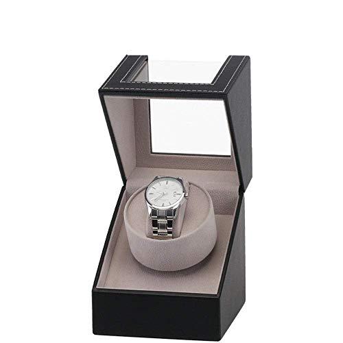 Caja organizadora de relojes Caja de reloj Caja de motor Mesa oscilante de cuero de la pu Mini Cabezal único Agitador eléctrico individual Caja de almacenamiento de exhibición de joyería de bobinado