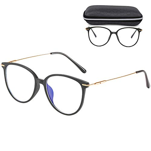 Venga amigos Gafas Luz Azul,Gafas Filtro Ordenador Gaming Anti-luz Azul Gafas Montura de Gafas Ultraligera para Hombre y Mujer