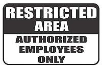 素敵な安全警告金属看板、立ち入り禁止区域の許可された従業員のみ2796ビール、カフェ、バーパブ、ビールクラブの壁の家の装飾レトロ、ホームハウスコーヒービールドリンクバーの装飾