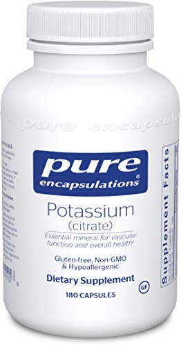 Pure Encapsulations - Potassium (Citrate) - Essential Mineral for Vascular Function and Overall Health - 180 Capsules