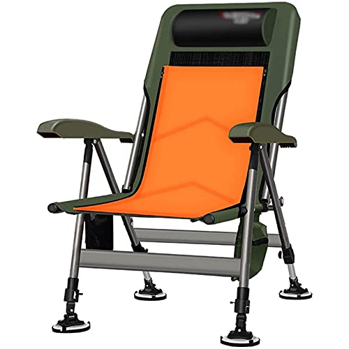 YI'HUI Fishing Chairs Ajustable al Aire Libre Pesca y Camping Silla Multifuncional Plegable Silla al Aire Libre Silla Camping Silla Puede soportar 200 kg Silla