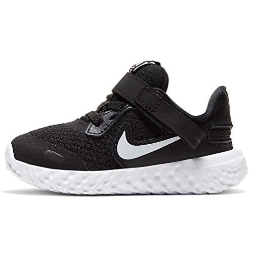 Nike Revolution 5 FLYEASE TDV CQ4651 004 Scarpa da Corsa Bambino Nero Nero 22 EU