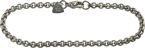 Ti2 Titanium Mens Venetian Inka Bracelet - Silver - 8.5'