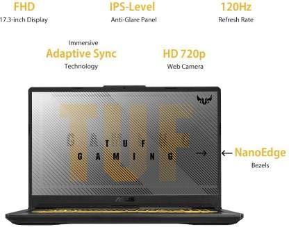 Asus TUF Gaming A17 Ryzen 5 Hexa Core 4600H - (8 GB/1 TB HDD/256 GB SSD/Windows 10 Home/4 GB Graphics/NVIDIA Geforce GTX 1650 Ti/120 Hz) FA706II-H7186T Gaming Laptop (17.3 inch, Gray Metal, 2.6 kg)