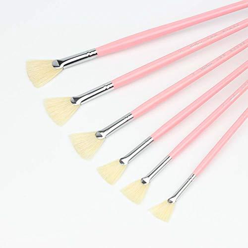PULABO - Cepillo de cerdas en forma de abanico para pluma de...