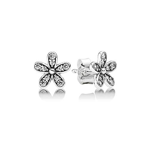 Pandora Damen-Ohrstecker Glanzvolles Gänseblümchen 925 Silber Zirkonia weiß - 290570CZ