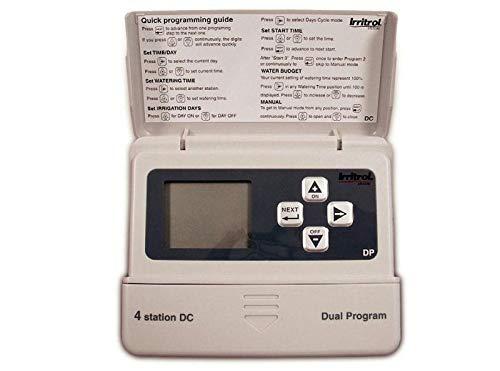 Irritrol 657040 Programador Riego a Pilas Digital de 4 Estaciones, DC