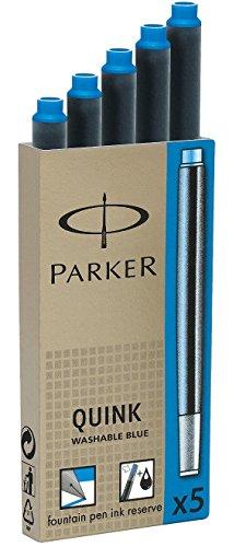 Parker Quink: Cartouches pour stylo à plume Parker encre bleu royal Parker Quink en Etui de 5