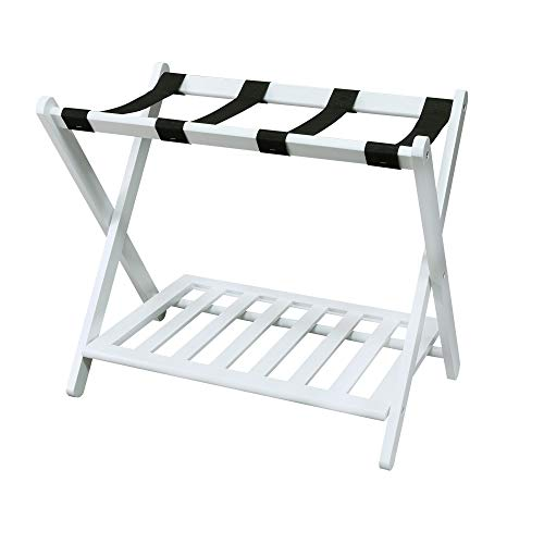 Casual Home Luggage Rack, White (New)