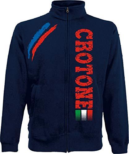Generico Giacchino CROTONE Tifosi Ultras Calcio Sport dalla S alla XXL e 4 Colori Disponibili(XL, Blu Navy)