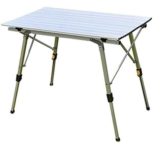 JKZX Outdoor Klapptisch und Stühle Camping Aluminium Picknick-Tisch wasserdicht und langlebig Faltbare Bett-Behälter-Lap Desk