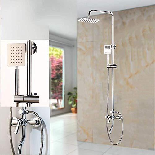 Yaeele Chrome incorporado grifo de ducha con ducha de pared Compatible with cuarto de baño