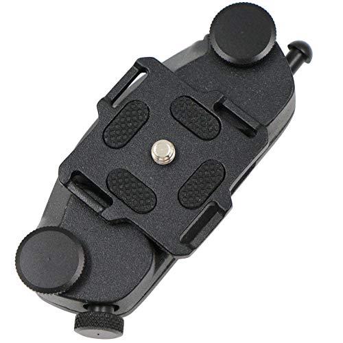 Gürtelclip Kamera Gurt Halterung Rucksack - Kamera Gürtel Clip Aluminiumlegierung Schnellverschluss Halter Kameraclip mit 1/4 Kamerahalterung für Kamera Bund Gürtel und Rucksack.