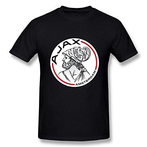 Edwina Erin Heren Ajax Amsterdam Logo Amsterdamsche Voetbal Club Zwart T Shirt XXXX-Large