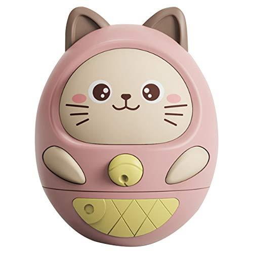 Xuanshengjia Tumbler Baby Toy, Juguete Wobbler Educativo Temprano Sin Batería, Juguete con Sonido para Bebés con Música Relajante, Iluminación Suave para Ayudar A Los Bebés De Más De 3 Meses A Dormir