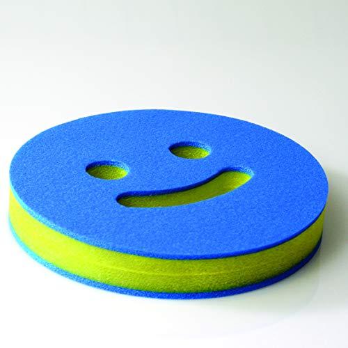 COMFY® AQUAFIT SMILE, Aqua-Fitness-Gerät, Wasserhantel, Muskelaufbautraining, ø 22 cm