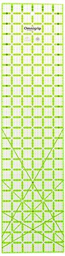 "Omnigrid Non-Slip quilter's Ruler, 6"" x 24"", Neon Green"