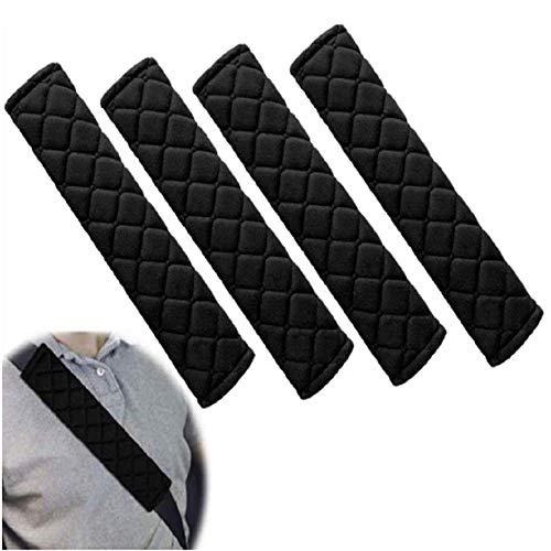 SSPECOTNR 4 almohadillas cinturón de seguridad cómodas par