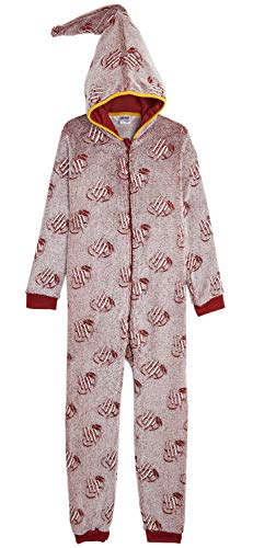 Harry-Potter-Onesie-Ladies-Pyjamas-Glow-in-The-Dark-Super-Soft-Fleece-Onesies-for-Women-Unisex-Dress-Up-Costume-with-Gryffindor-Wizard-Hood-All-in-One-PJ-Piece-Pyjama-Gifts-for-Girls