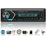 Single Din Car Stereo Daul Bluetooth,Car Radio,Hand-free Calling,1 DIN MP3 Media Player with 7 Colorful Lights