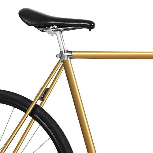 MOOXIBIKE Gold metallic Fahrradfolie glänzend für Rennrad, MTB, Trekkingrad, Fixie, Hollandrad, Citybike, Scooter, Rollator für circa 13 cm Rahmenumfang