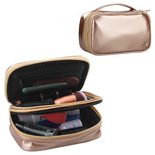 Relavel Travel Cosmetic Bag Small Makeup Bags for Women Portable Cosmetic Case Makeup Brush