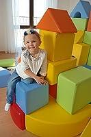 Velinda Completo 17 grandi mattoni,blocchi,cubi in schiuma gioco bambino, scuola materna (colore: mix1) #2