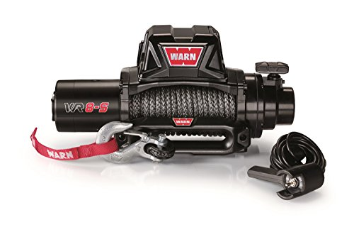 WARN 96805 VR8-S Electric 12V Winch with Synthetic Rope: 3/8' Diameter x 90' Length, 4 Ton (8,000 lb) Pulling Capacity
