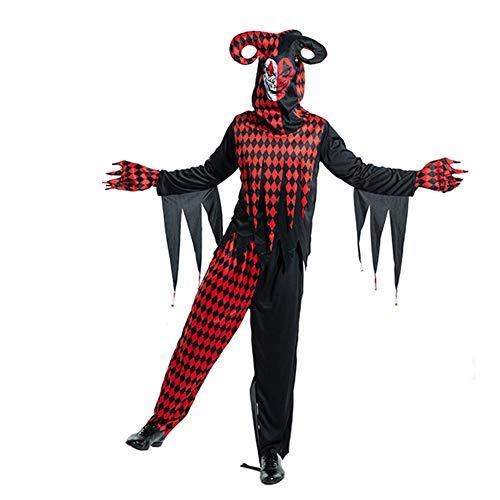 NNW Mens Halloween Spielen Outfits Stage Performance Clown im Kostüm Stage Performance Karneval Clown Auferstehung Anzug,XL