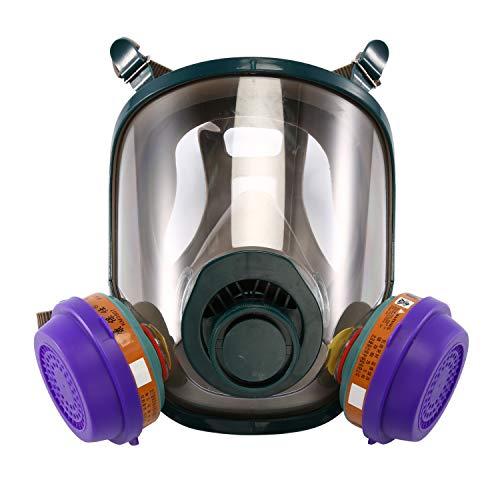 ENJOHOS Mascarillas y respiradores Reutilizables Face Cover Cubierta de Protección para Los Ojos Cubierta de la Cara Cubierta de la Cabeza con Válvula de Cara Completa con Amplio Adecuado