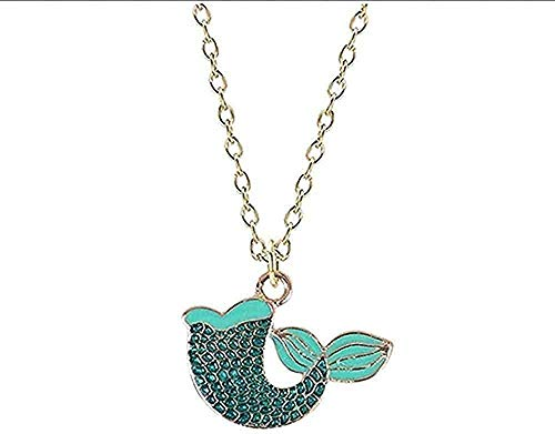 LBBYMX Co.,ltd Necklace Cartoon Shape Pendant Drip Alloy Material Red Blue Optional Ladies Jewelry Gift Pendant Necklace Gift for Women Men Girls Boys