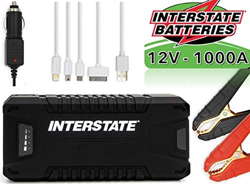 Affordable Interstate Batteries Charge and Go 12V Lithium Portable Jump Starter and Battery Charger ...