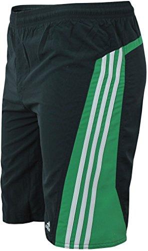 adidas Kinder Badeshort 3-Streifen Colorblock Short Boys (128, dunkelgrau-grün)