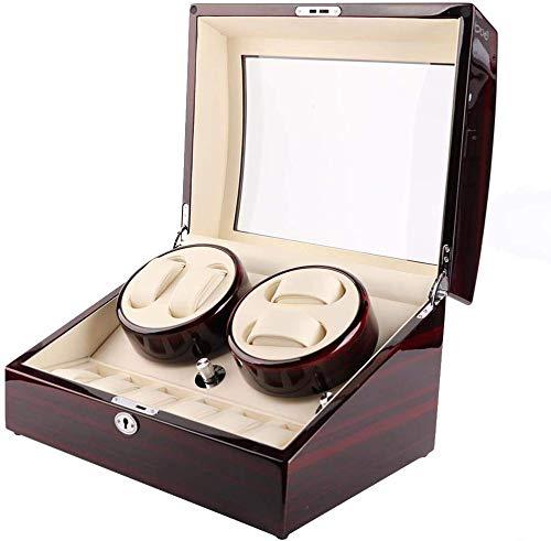 yuyte Auto Rotation Watch Rotary Box, Aufbewahrungskoffer Für Organizer- Und Displayuhren, 4 + 6 Gitter (1)