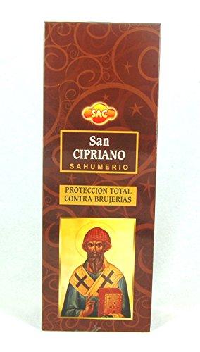 Incienso SAC San Cipriano sahumerio - Set de 6 paquetes hexagonales