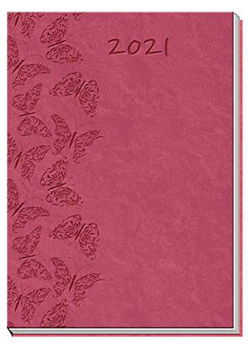 Trötsch Taschenkalender 2021 A7 Soft Touch Schmetterlinge: Taschenterminer