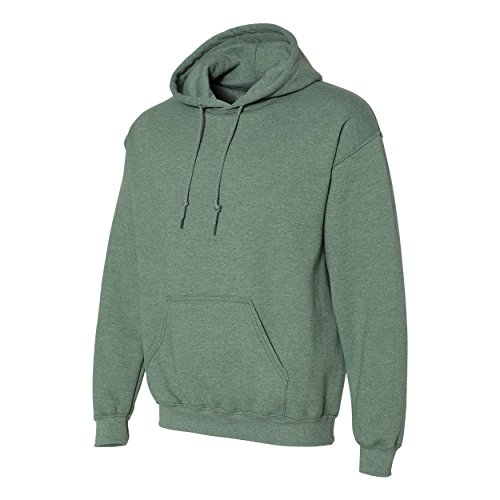 Gildan. Heavy Blend Adult Unisex Hooded Sweatshirt/Hoodie (S, Heather Sport Dark Green)