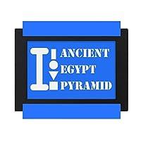 古代エジプトピラミッド デスクトップフォトフレーム画像ブラックは、芸術絵画7 x 9インチ