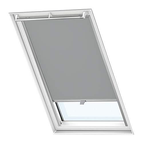LZQ Dachfenster Verdunkelungsrollo Grau Thermo Sonnenschutz für Velux Fenstersysteme Dachfenster Verschiedene Größen Fenstertypen : GGL, GPL, GHL, GTL, GXL (C04, Grau)