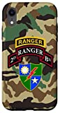 iPhone XR US Army Ranger 2nd Battalion (BN) Scroll, Tab, DUI BDU camo Case