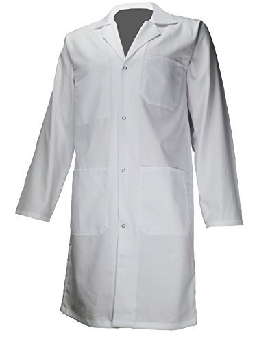 AMAWORK PH ENFT Blouse Blanche 100% Coton Chimie Laboratoire Medical Enfant College Lycee 14Ans