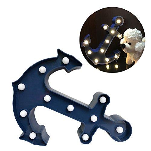 LEDMOMO Ancla de luz de la lámpara de luz de la noche de la noche de la batería operado para la decoración de la boda de la boda de la casa