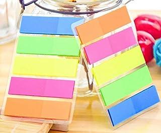 مجموعات VNDEFUL 3، 5 ألوان (إجمالي 300 قطعة)، علامات تبويب مؤشرات الأعلام لاصقة ملاحظات لاصقة صفحة ملصقات قابلة للكتابة