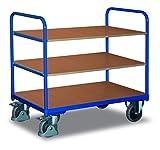 Etagenwagen niedrig Traglast (kg): 250 Ladefläche: 850 x 500 mm RAL 5010 Enzianblau