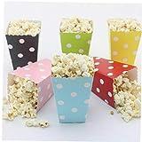 6 Pezzi Stripe Saluto DOT Paper Bag Popcorn Scatole Festa di...