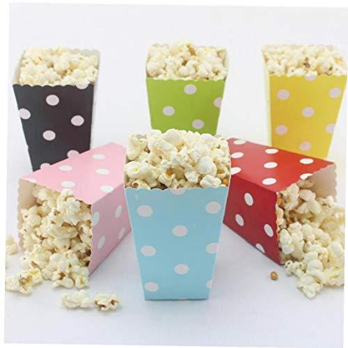 6 Pezzi Stripe Saluto DOT Paper Bag Popcorn Scatole Festa di Compleanno del Bambino Decorazione Bambini Shower Boy Girl Feste Colore Casuale