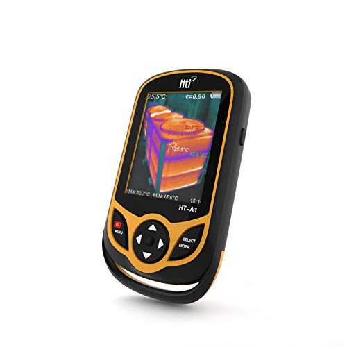 Thermal Imaging Camera, Portable Infrared Camera with 3.2' Full Angle TFT Display,Infrared Image Resolution 220 x 160-Temperature Measurement Range -4°F to 572°F,Pocket-Sized IR Thermal Imager, HT-A1