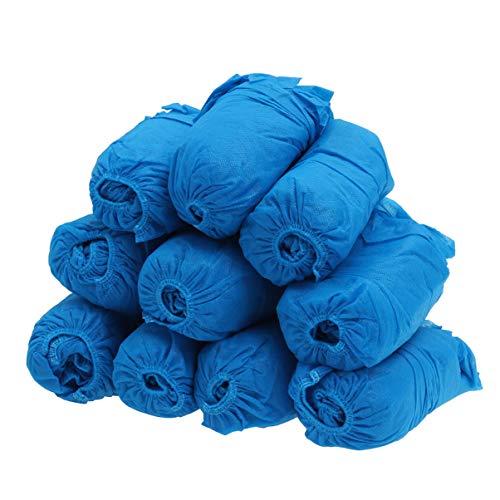 Clispeed 100 stuks hygiënische wegwerp-schoenovertrekken van kunststof voor vloerbedekking, bescherming voor medische doeleinden, blauw, Blauw