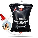 Zoeson Ducha Solar, Ducha Portatil, Bolsa De Ducha Para Camping Y Senderismo (20L)